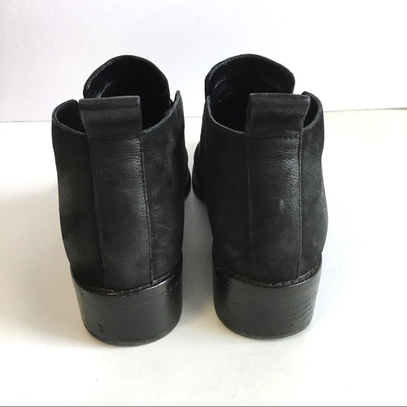495ca672561 Eileen Fisher Mood Nubuck Flat Booties Boots Black